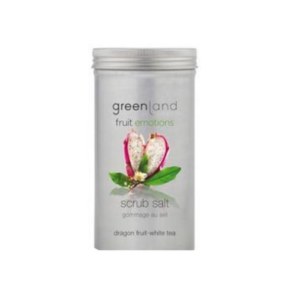 Sare exfolianta, cu fructul dragonului si ceai alb, Greenalnd, 400 gr poza