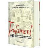 Testament. 400 de ani de poezie romaneasca - Daniel Ionita, editura Aramis