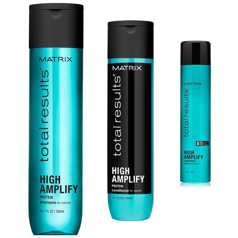 Pachet Matrix Total Results High Amplify - Sampon, Balsam si Spray Fixativ poza