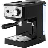 Espressor manual ECG ESP 20101 Black, 1140 W,1.25 L, dispozitiv spumare, 20 bar