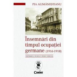 Insemnari din timpul ocupatiei Germane (1916-1918) - Pia Alimanestianu, editura Corint