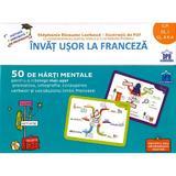 Invat usor la franceza. 50 de harti mentale - Clasa pregatitoare - 2  - Stephanie Eleaume Lachaud, editura Didactica Publishing House