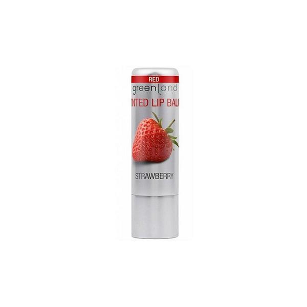 Balsam buze nuantator, rosu, cu capsuni, Greenland, 3.9 gr poza