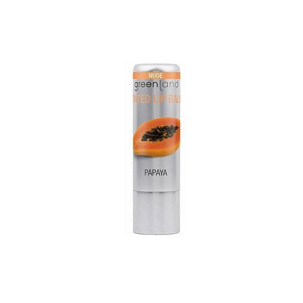 Balsam buze nuantator, nude, cu papaya, Greenland, 3.9 gr imagine produs