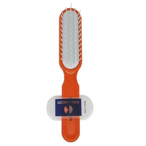 Perie pneumatica portocalie cu peri cilindrici din plastic, rezistenta la foen, Koh-I-Noor, 8115A