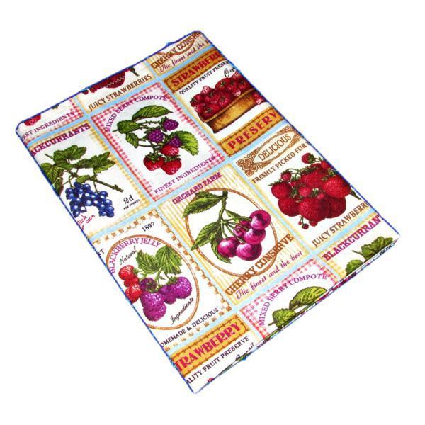 Fata de masa imprimeu cu fructe, bumbac, 150×120 cm, model 2 – Happy Gifts