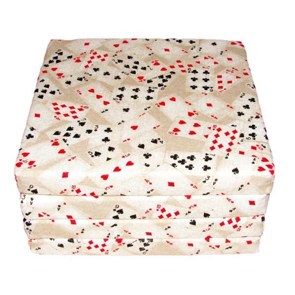 Set 4 perne pentru scaun imprimeu carti de joc dimensiuni 35×35 – Happy Gifts