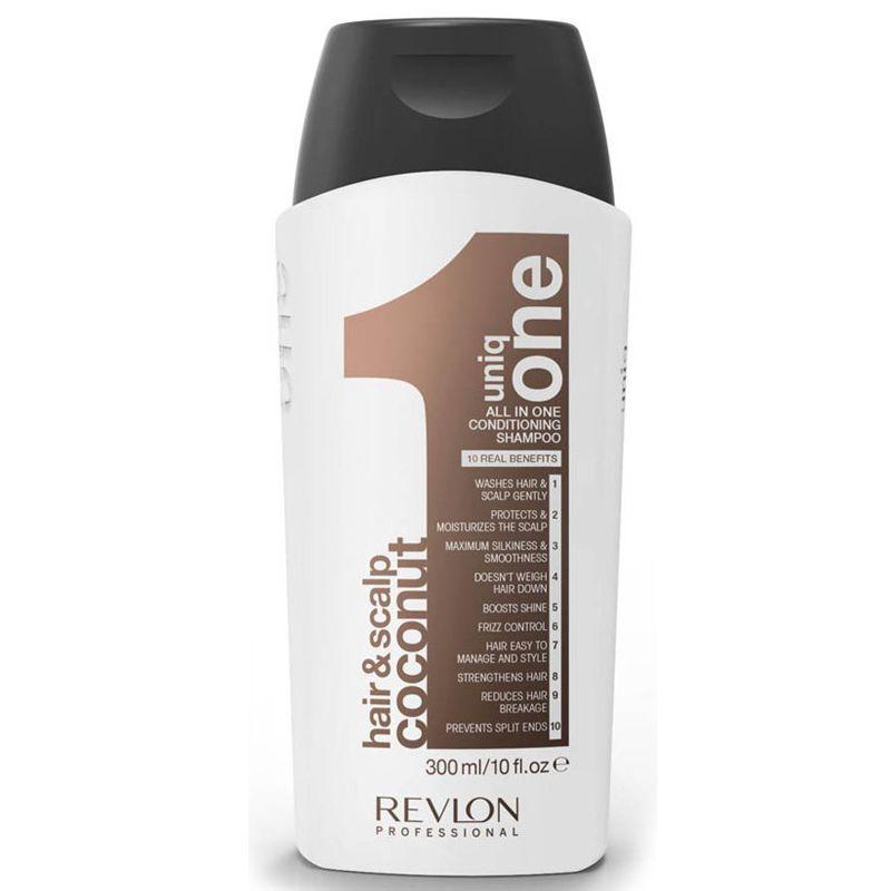 Sampon cu Nuca de Cocos - Revlon Professional Uniq One All In One Conditioning Shampoo 300 ml imagine