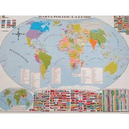 Harta politica a lumii + Harta fizica a lumii, editura Carta Atlas