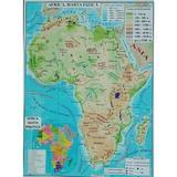 Africa + Australia - Harta Fizica A3, editura Carta Atlas
