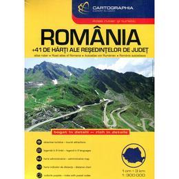 Romania - Atlas rutier si turistic, editura Cartographia