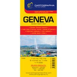 Geneva - Harta turistica si rutiera, editura Cartographia