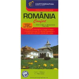 Romania - Harta turistica si rutiera laminata, editura Cartographia