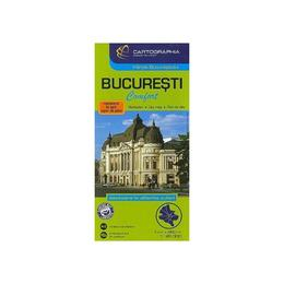 Bucuresti - Harta laminata, editura Cartographia
