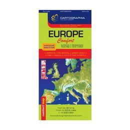 Europa - Harta laminata, editura Cartographia