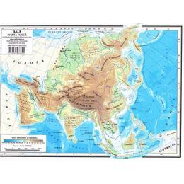Harta Asia (fizica) + Asia (politica), editura Didactica Si Pedagogica
