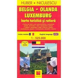 Belgia Olanda Luxemburg Harta turistica si rutiera, editura Niculescu