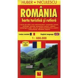 Romania - Harta turistica Si Rutiera, editura Niculescu