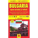 Bulgaria - Harta turistica si rutiera, editura Niculescu