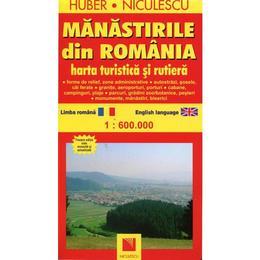 Manastirile Din Romania - Harta Turistica Si Rutiera, editura Niculescu