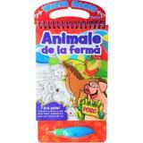 Animalele de la ferma. coloram cu carioca cu apa