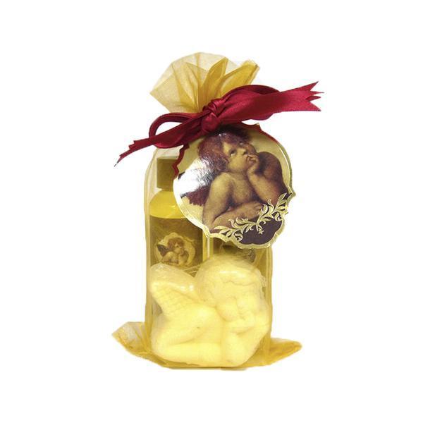 Set cadou organza vintage - gel 65ml + lotiune 65ml + bila efervescenta 50g - Vintage Village Cosmetics esteto.ro