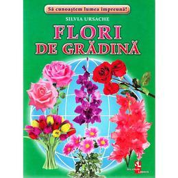 Flori de gradina - Cartonase - Silvia Ursache, editura Silvius Libris