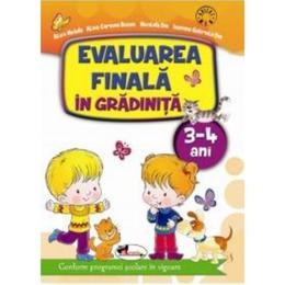 Evaluarea finala in gradinita 3-4 ani - Alice Nichita, editura Aramis