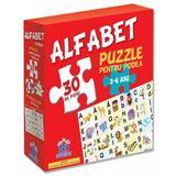 Alfabet: puzzle pentru podea 3-6 ani - 20 Piese, editura Didactica Publishing House