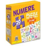 Numere: puzzle pentru podea 3-6 ani - 20 piese, editura Didactica Publishing House
