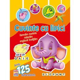 Cuvinte cu lipici Elefant, editura Anteea