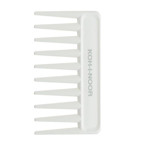 Pieptene alb afro, 9 x 7 cm, Koh-I-Noor, 8131V imagine produs