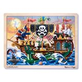 Melissa and  Doug - Puzzle lemn Aventura Piratilor
