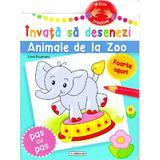 Invata sa desenezi: Animale de la zoo, editura Flamingo