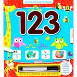 Sa invatam numerele: 1 2 3 - Scrii si stergi, editura Girasol