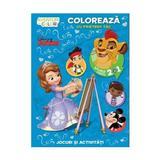 Disney - Coloreaza cu prietenii tai! Aventuri in culori. Intoarce cartea 2 in 1, editura Litera