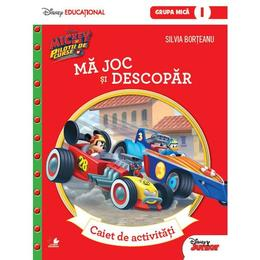 Disney. Mickey si pilotii de curse - Ma joc si descopar - Caiet de activitati. Grupa mica, editura Litera