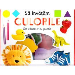 Sa invatam culorile (Set educativ cu puzzle), editura Litera
