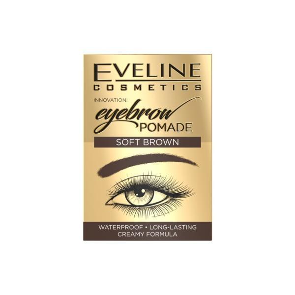 Crema pentru sprancene, Eveline Cosmetics, Soft Brown Waterproof, 20g imagine produs