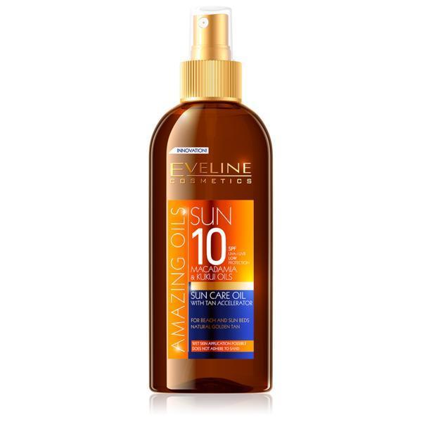 Ulei de plaja, Eveline Cosmetics, SPF 10, UVA+UVB, rezistent la apa, 150 ml imagine produs