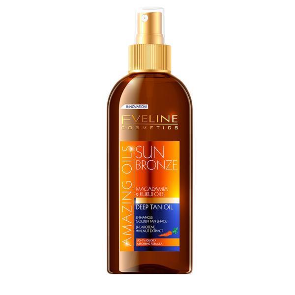 Ulei de plaja, Eveline Cosmetics, pentru accelerarea bronzului, Rezistent La Apa, 150 ml poza