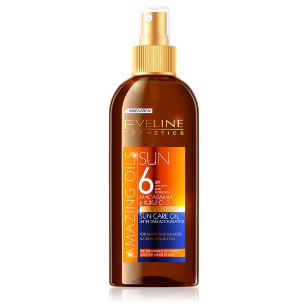 Ulei de plaja, Eveline Cosmetics, Rezistent la apa, SPF 6, 150 ML imagine produs