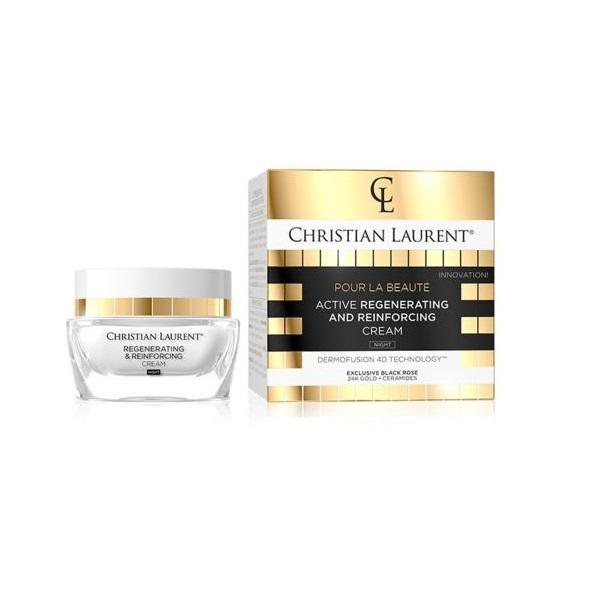 Crema de fata, Christian Laurent, Activ Regeneratoare De Noapte, Exclusive Black Rose, 24k Gold, 50 ml imagine produs