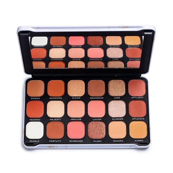Paleta fard de pleoape Makeup Revolution Forever Flawless Decadent, 18 nuante poza