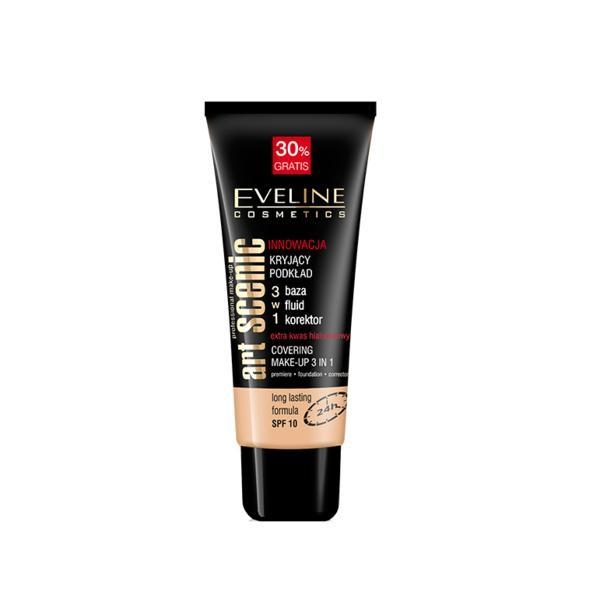 Fond de ten, Eveline Cosmetics, Art Scenic 3in1 24h, 20 Ivory, 40 ml poza