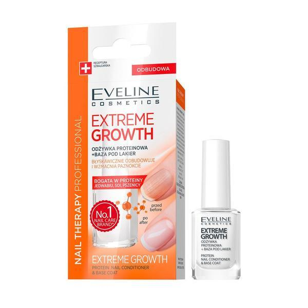 Tratament pentru cresterea unghiilor, Eveline Cosmetics, Extreme Growth, Nail Therapy Professional, 12 ml imagine produs