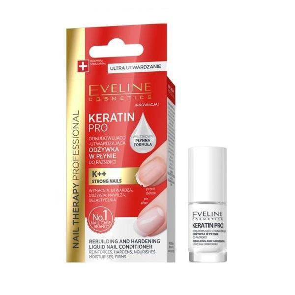 Tratament pentru unghii, Eveline Cosmetics, Nail Therapy Keratin Pro, 5 ml imagine produs