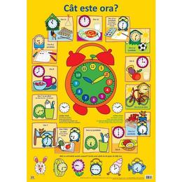 Plansa: Cat este ora?, editura Didactica Publishing House