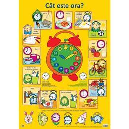 Plansa: Cat este ora?, editura Didactica Publishing House
