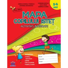 Mapa copilului istet 5-6 ani. Activitati integrate, editura Didactica Publishing House